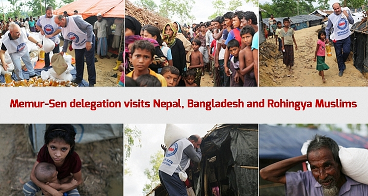 Memur-Sen Delegation visits Nepal, Bangladesh and Rohingya Muslims
